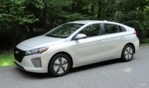 The 2018 Hyundai Ioniq offers stellar fuel economy in a quiet, subdued package. Photo courtesy of Brady Holt.