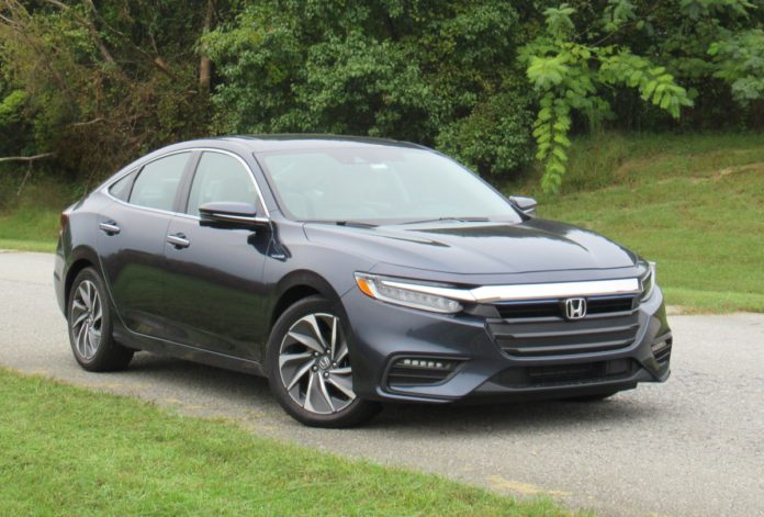 The 2019 Honda Insight is a compact hybrid sedan priced from $23,725 and rated for up to 52 mpg in mixed driving. Photo courtesy of Brady Holt.